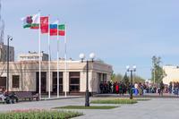 Открытие обновленного парка Победы. Казань 2015