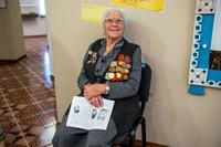 Фото. Гафурова Х.Б. - участница Великой Отечественной войны. 2014