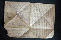 Письмо с фронта от красноармейца Самигуллина А. На татарском языке. 1942
