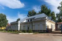 В этом здании в годы Великой Отечественной войны размещался военный госпиталь