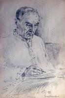 Нестеров И.А. Портрет писателя К.А. Тренёва. Чистополь. 1942. Бумага, карандаш