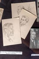 Нестеров И.А. Эскизы к портрету Б.Пастернака. Чистополь. 1942-1943
