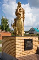 Парк Победы. Скульптура посвященная труженикам тыла. пгт Балтаси. 2014