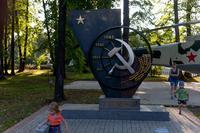 Памятник Труженикам тыла в Парке Победы г.Зеленодольск. 2014