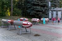 Образцы военной техники в Парке Победы. г.Зеленодольск. 2014