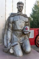 Памятник солдату на мемориальном комплексе с. Айша Зеленодольского района. 2014