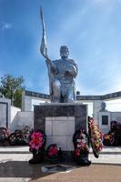 Монумент павшим воинам. Памятник солдату и вечный огонь. Буинск. 2014
