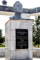 Монумент павшим воинам. Бюст Героя Советского Союза -  Шафранова П.Г. 2014