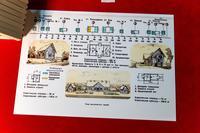Схема- рисунок. Типы пассажирских зданий вдоль железной дороги. Лист из альбома.