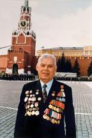 Фото. Хасанов И.Б.- ветеран Великой Отечественной войны.Красная площадь.2000-е
