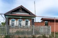 Фото. Дом в с. Старый Студенец, где живет Ф.С. Юсупова - труженик тыла. 2014