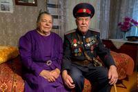 Фото. Ерунов А.Н. - ветеран Великой Отечественной войны с супругой. 2014