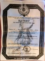 Патент Ерунову А.Н. на офицерский казачий чин. 2013