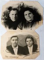 Фото.Супруги Еруновы 1949   (в день свадьбы)