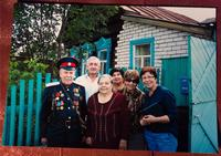 Фото.Супруги Еруновы с гостями из Франции. Лето, 2014