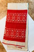 Полотенце памятное с восемью узорами. Мамадыш. 1940-е-1950-е. Ткань
