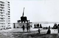 Фото. 85 мм пушка, на которой первым орудийным номером была Андронова Е.М. Саратов. 1982