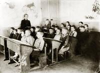 Фото. Ученики III класса Мамадышской начальной школы. 1940-е