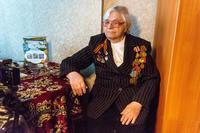 Фото. Яковлева Т.И. дает интервью с воспоминаниями о годах войны. 2014