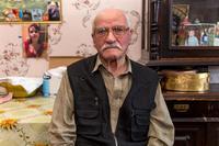 Фото. Павлов М.Н. дает интервью с воспоминаниями о годах войны. 2014