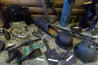 Фрагмент экспозиции, посвященный поисковым экспедициям по местам боев. 2014