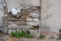 Фрагмент старой кладки на здании бывшего к/т «Коммуна»