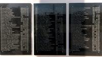 Мемориальные доски со списками погибших. Парк Победы. Кукмор. 2014
