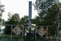 Стела с надписью «Никто не забыт, ничто не забыто». Село Олуяз. 2014