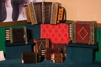 Коллекция гармошек Зайнуллина С.Г.в экспозиции музея. 2014