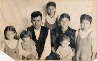 Фото.Фагерутдинов Кутбутдин с семьей. 1950-е