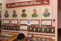 Стенд с портретами Героев Советского Союза, уроженцами Балтасинского района. Худ. В.Ефимов