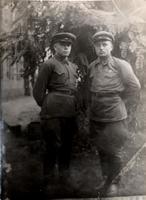 Фото. Минаев Г.М. (1919-1982) - Герой Советского Союза с сослуживцем. Киев. 1939