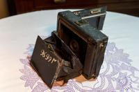 Фотоаппарат Богомоловой Е.Ф. – военного фотографа. Конец XIX- начало ХХ. Металл, кожа, пластмасса
