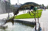 Памятник Осетру. г. Лаишево. 2014