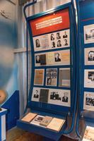 Стенд в экспозиции Музея истории КНИТУ -  КАИ о создании кафедры реактивных двигателей в1945.  2014