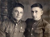 Фото.Герой Советского Союза - Казаков А.С. (Слева).1940-е