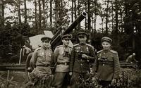 Фото.Ржевский Е.В.(2-ой слева) с боевыми товарищами.Чехословакия. 1945