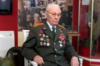 Фото. Ботов Б.А. дает интервью в Музее истории МВД  РТ. 2014