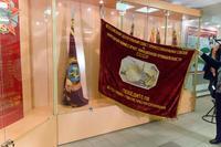 Красное Знамя ВЦСПС и Наркомата авиационной промышленности СССР- победителю Всесоюзного социалистического соревнования. 1943