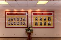 Стенды в музее с портретами руководителей предприятия и героев войны и труда. 2014