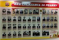 Стенд в музее  с портретами участников Великой Отечественной войны полных кавалеров ордена Александра Невского и Славы.