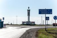 Развилка дороги при въезде в Лениногорск