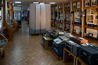 Фрагмент экспозиции музея  посвящен развитию телеграфной связи в 1970-80-е