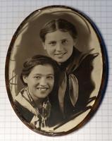 Фото. Телешева Н.А. с подругой. Казань. 22 июня 1941 г.