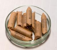 Упаковки таблеток кальцекс( по 10 шт.) Химфармзавод № 11. 1940-е