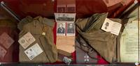 Витрина в музее с документами и личными вещами участника Великой Отечественной войны Прокашева С.И.