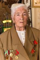 Фото. Мухтарова Г.А дает интервью об участии в Великой Отечественной войне. 2014