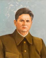 Портрет директора завода Голованова В.П.  2002. Холст,масло. худ. неизвестен