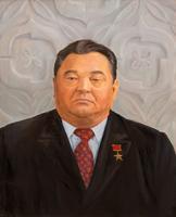 Портрет генерального директора завода Гизатдинова Л.В.2002. Холст,масло. Худ.неизвестен