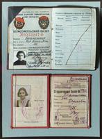 Комсомольский и студенческий билеты Богомольной З.Б. 1930-е